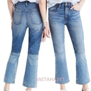 MADEWELL Retro Crop Bootcut Jeans Two-Tone Edition